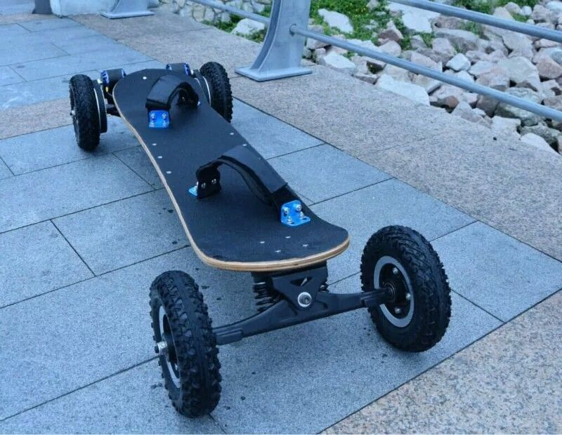 1800Watt Brushless Hoverboard Scooter , EcoRider Electric Skateboard Maple Deck