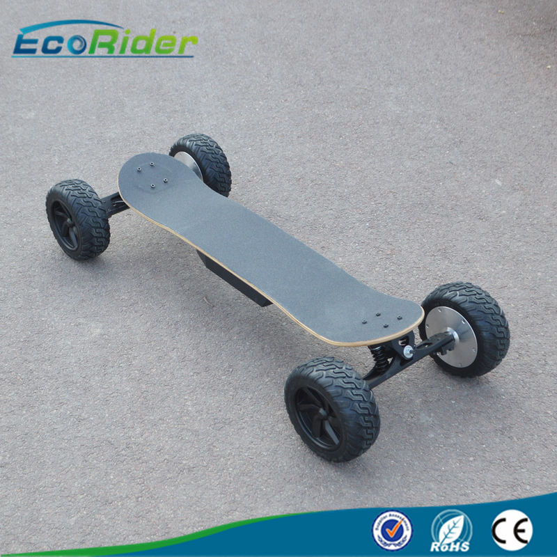 Mini 4 Wheel Skateboard 48v Two Brushless Hub Motor 2000w 30 Degree Climb Capability