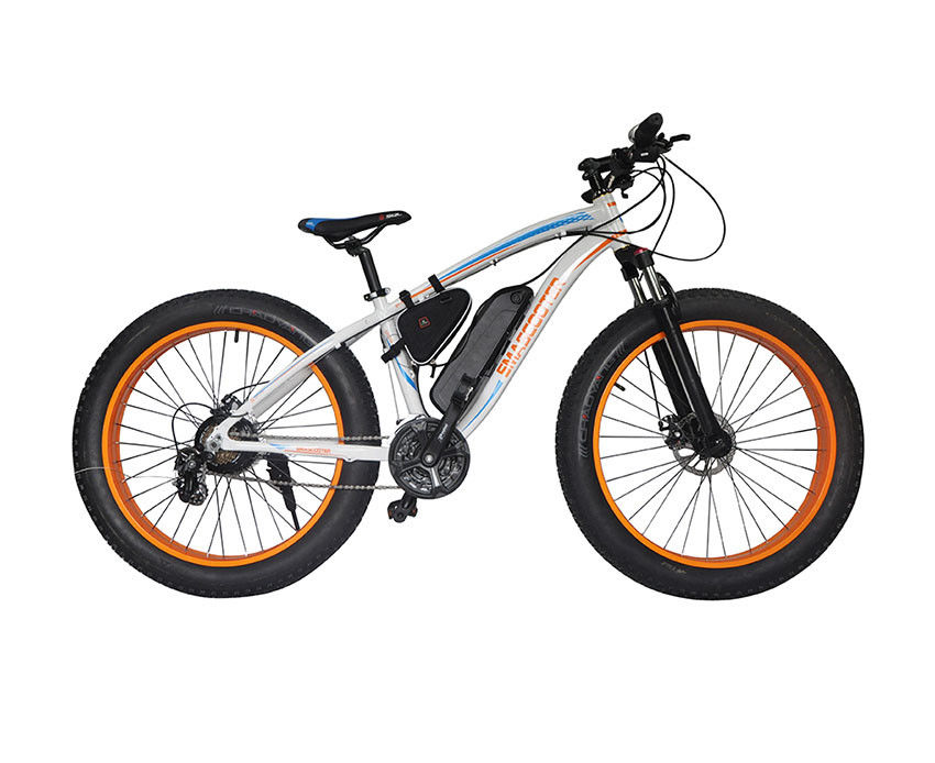 48v Electric Mountain Bike , Front Disc Brake Electric Powered Bicycle Brushless Motor