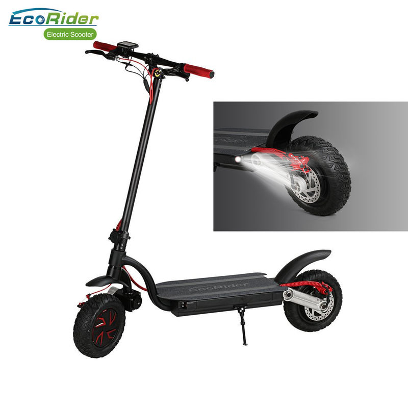 Eco - Rider Smart Kick Folding Motor Scooter 2000W Dual Battery 48V 10 Inch Wheel